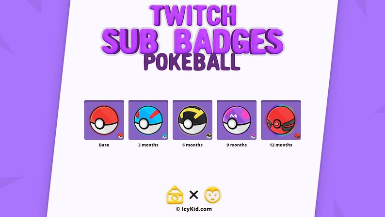 Twitch / Streaming Subscriber Badges  Pokeball image 0