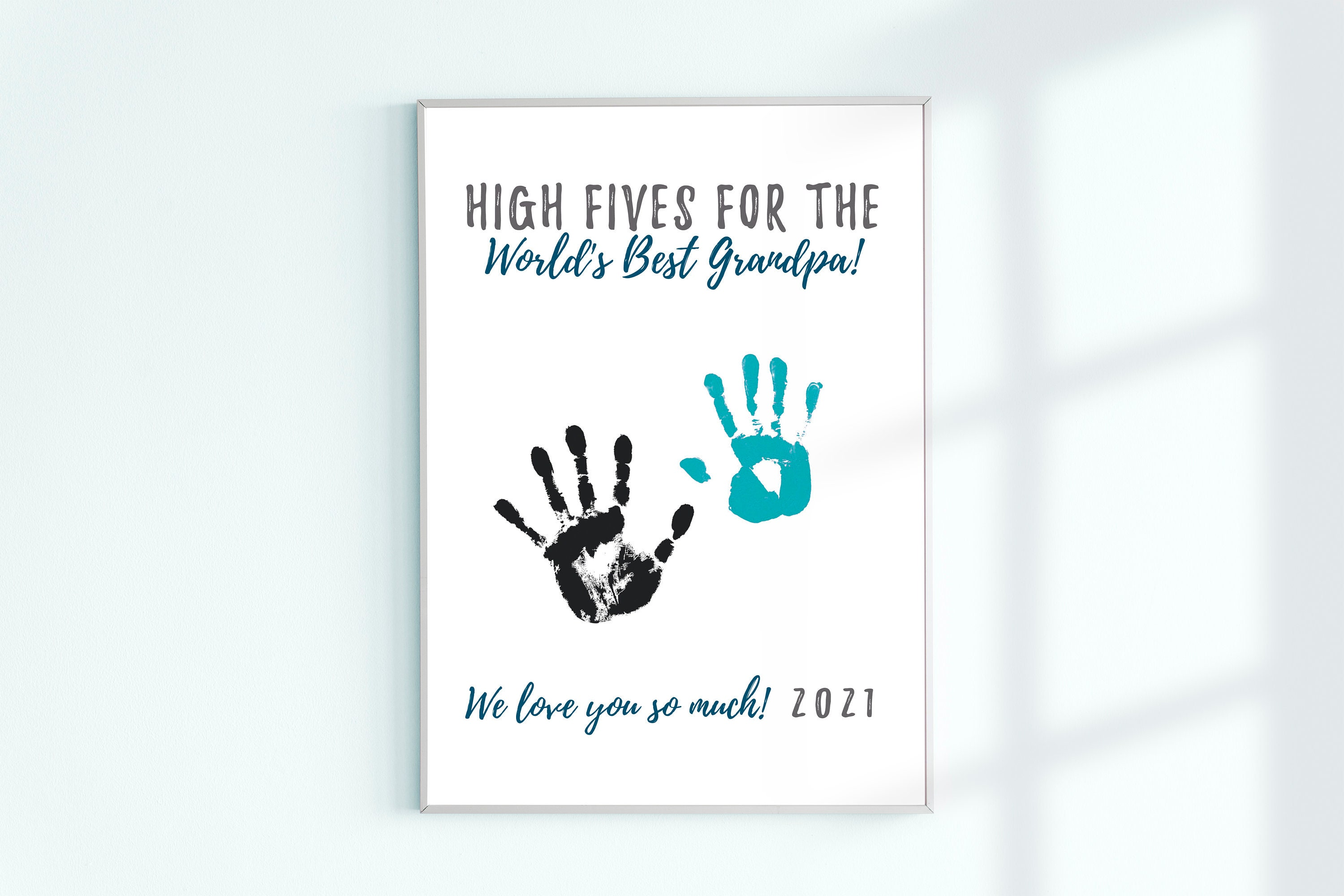 Nana Mothers Day Gift Printable Kids Crafts Handprint Art Card from Grandson Birthday Gift for Nana from Granddaughter Instant Download