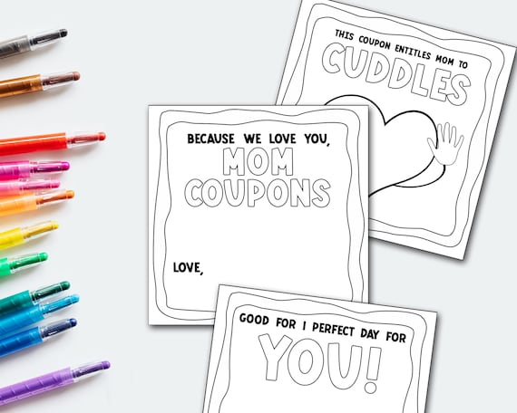 Mom Coupons Instant Download Coupon Book Printable