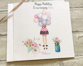 Birthday Card18th21st30th40th50th Mum Daughterniecesisterauntauntiegrandmagrangrannyfriendcousinbestie