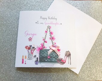 Birthday Card Female Make Up Friend Mum Daughter Sister Niece Cousin 18th 21st 30th 40th 50th Handmade Personalised