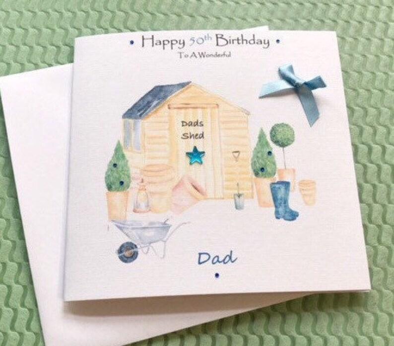 Happy Birthday Garden Card Handmade Personalised Sonbrotherdadunclegrandad21st30th40th50th Etc