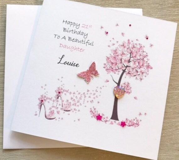 Personalised Birthday Card Female Friend Mum Daughter Sister Special Friend