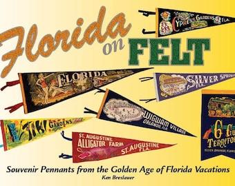 Florida Pendant Daytona Beach Flag Gift Vintage Pennant Souvenir Childhood Memory