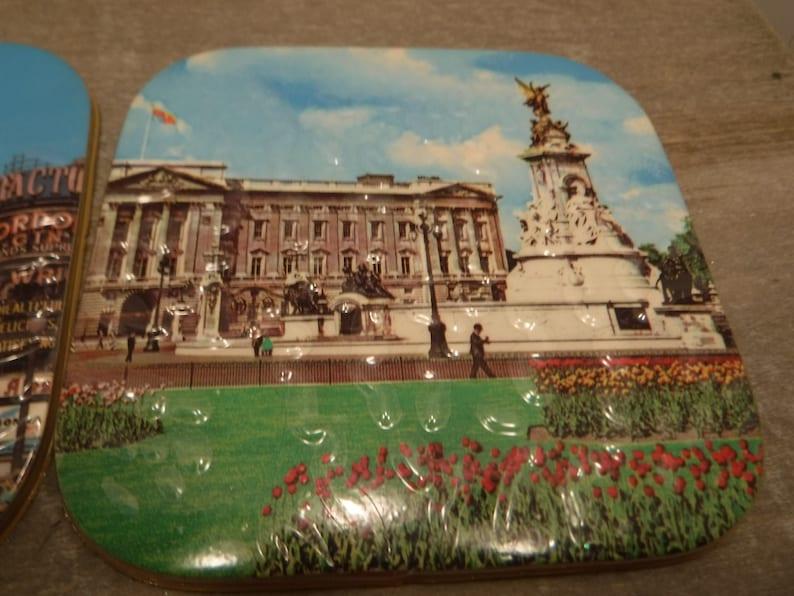 Original WH Smith Tag Vintage 1970/'s Souvenir of London Drink Coaster Set Never Used London Memorabilia England