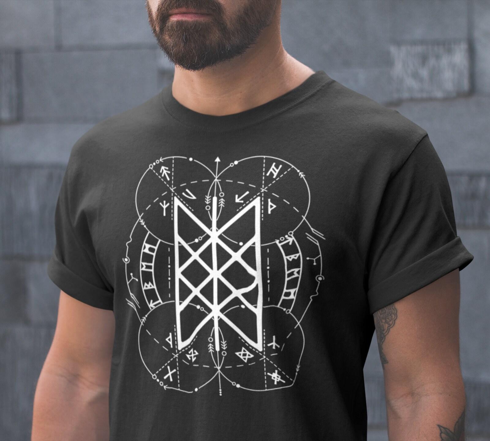 6c1dd355 Web of Wyrd | Norse Pagan Symbol | Viking T-Shirt | 3/4 Raglan Shirt |  American Apparel Tank Top | Viking Clothing | Skuld's Net | Heathen