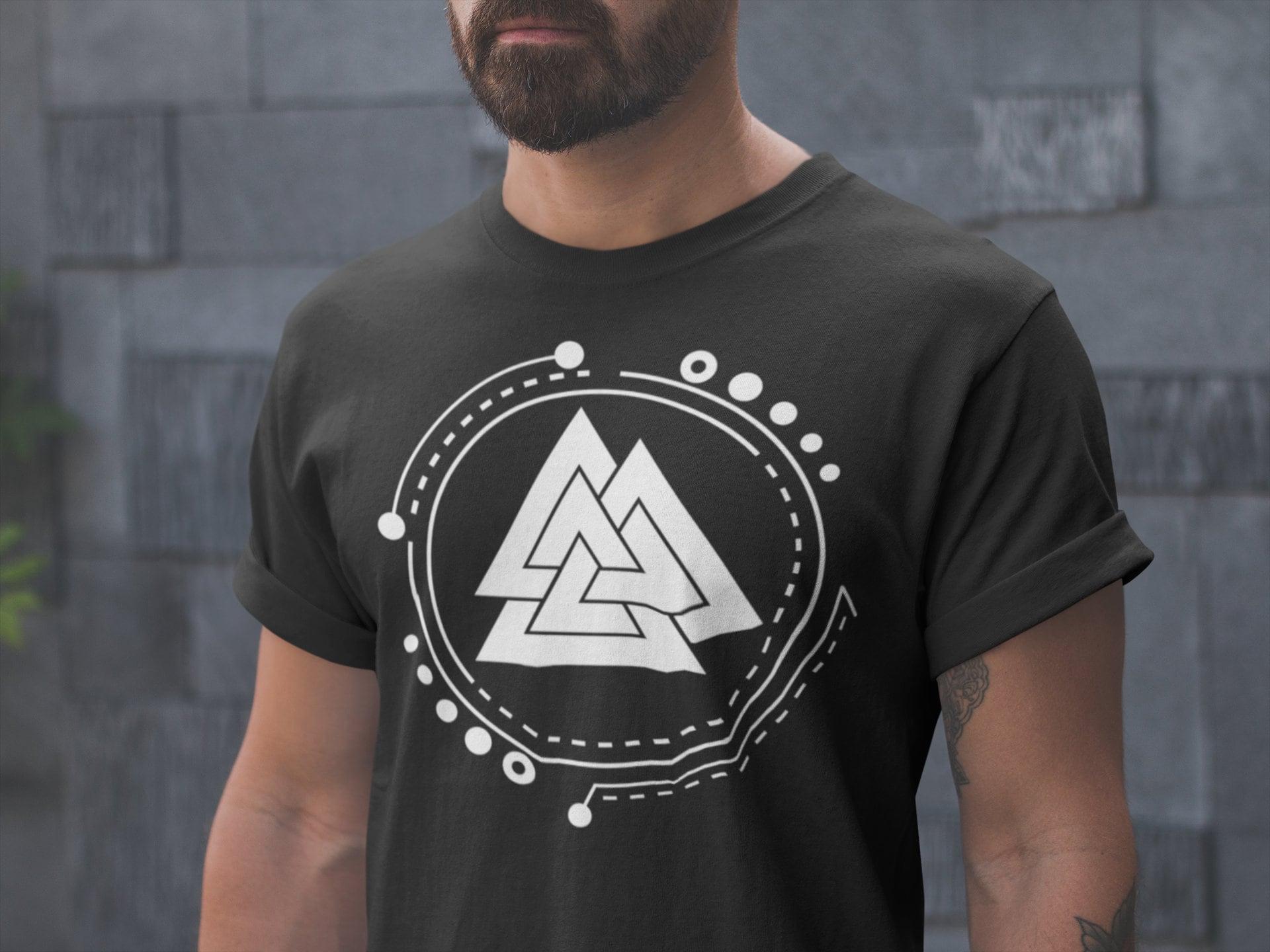 5ea5dca9 Valknut | Norse Pagan Symbol | Viking Sign T-Shirt | 3/4 Raglan ...