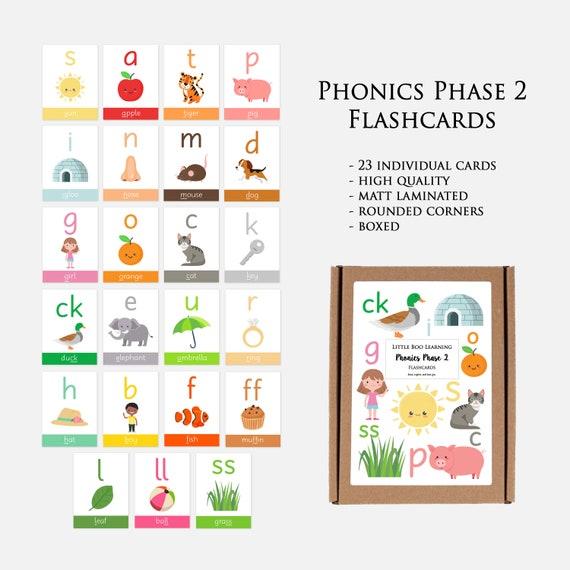 EYFS// Preschool// Toddler// SEN Phonics Phase 2 Educational Flash Cards