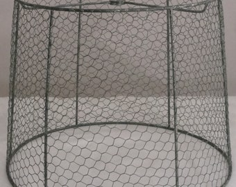 Wire lamp shade etsy 13 chicken wire shade keyboard keysfo Images