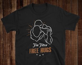 2e056e24 Jiu Jitsu Free Hugs T-Shirt, Choke, MMA, Brazilian Jiu Jitsu, Grappling
