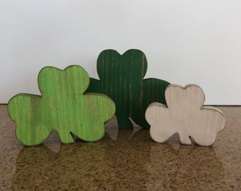 50 Laser Cutout Wood Shapes Shamrock Four Leaf Clover 1.75  Great for Crafts and Table Throws Made from Sustainable Birch
