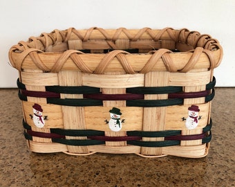 Basket,Christmas basket,snowman, napkin basket