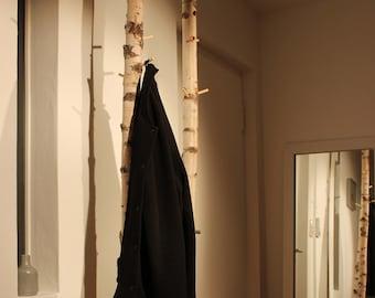 Design Garderobe Aus 1 Birkenstamm