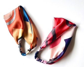Scarf Headband | Rust Floral | Pink Floral | Satin Series | Hair Scarf | Head Wrap | Sold Separately