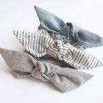 CHAMBRAY // Petite Crepe Series Knot Scrunchie, Bow Scrunchie, Multiple colors,