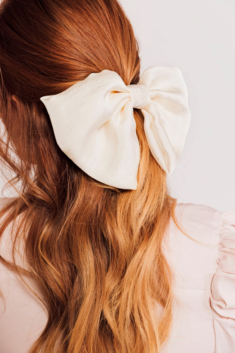 The Statement Bow  Oversize Silk Series Bow  Hair Bow  image 0