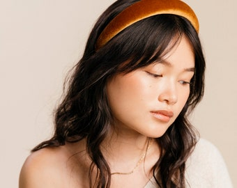 Rich Velour Knit Padded Headband | 90's Inspired | Hard Headband | Comfortably Soft | Handmade in USA