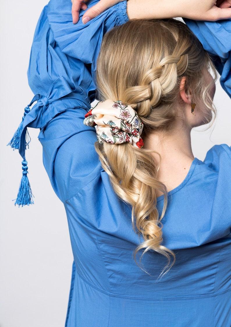 Ruffle Silk Series Scrunchie  Multiple colors  Unique Design image 0