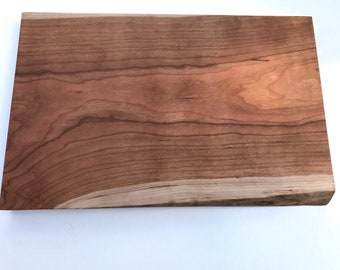 Cherry cutting board with a live edge serving tray live edge footed  176 bread board cheese board Serving Tray with cherry feet