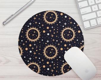 Mouse Pad Solar Print Office Gift Mouse Mat Celestial Celestial Print Mouse Pad Graphic Design Mousepad Mousemat Desk Accessories