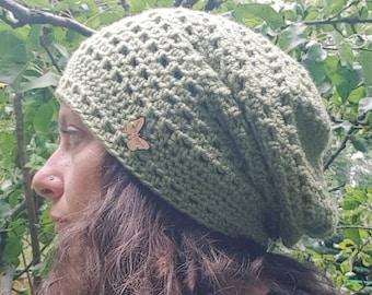 f9b8f89e91f Slouchy handmade crochet hat beanie oversize wool slouch