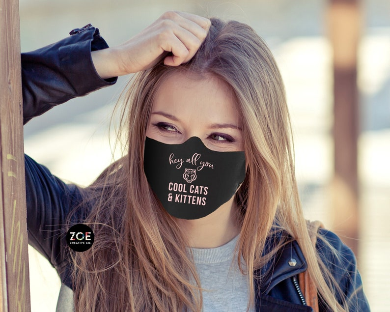 Face Masks Hey All You Cool Cats And Kittens Black Face Mask image 0