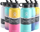 Hydro Flask Water Bottle - Stainless Steel Vacuum Insulated - Wide Mouth with Leak Proof Flex Cap
