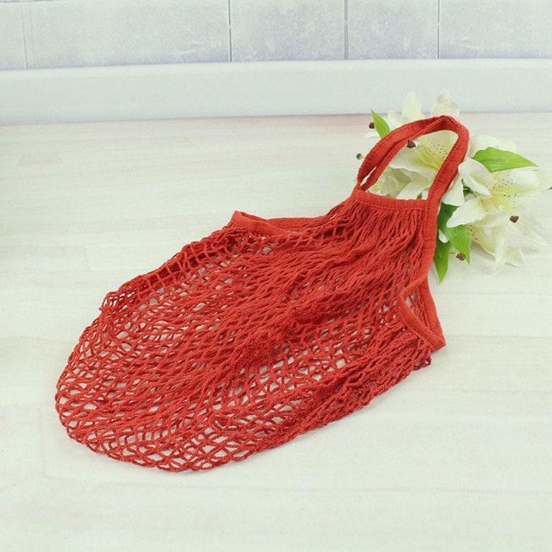 100/% Cotton String Shopping Bag REUSABLE MARKET BAG by Happy Straws