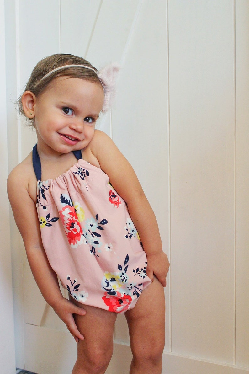 06eb6757ec44 Toddler girl clothes Baby girl floral Romper baby Toddler