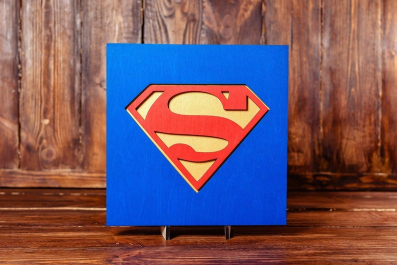 Superman Wall Picture Home Decor Christmas Gift
