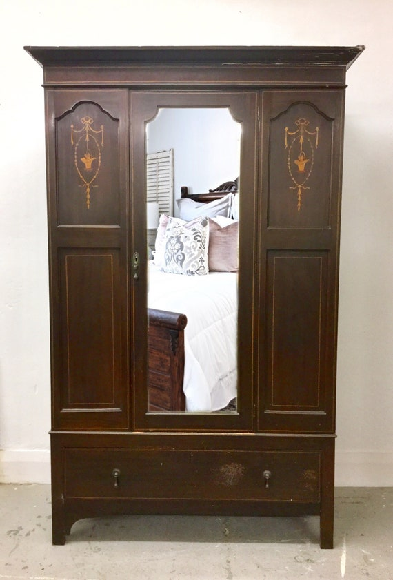 new style 40c86 e2d50 COMMISSION ~ Ornate Wardrobe/Armoire, Bedroom Furniture. Bedroom Storage  with Hanging Rail and Drawer. Commission & Restoration Project