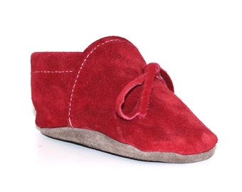 Leather cradle shoes, unisex baboon model,