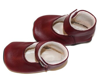 Baby leather ballet flats