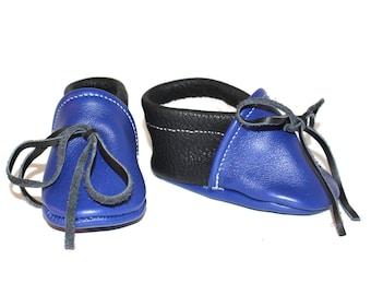 Leather cradle scarpine 3-6 months