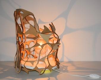 Caligula _ Leather lamp