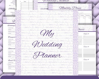 Neat Simple Wedding Planner Printable Wedding Planner Pdf Etsy