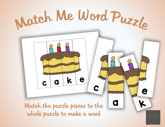 photograph about Make a Puzzle From a Picture Printable called Establish My Phrase 2 in just 1 Puzzle for Preschool and Kindergarten, Printable Phrase Spelling Puzzle for Babies, Fast PDF Colour Worksheet Puzzle