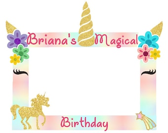 Unicorn Photo Frame Etsy