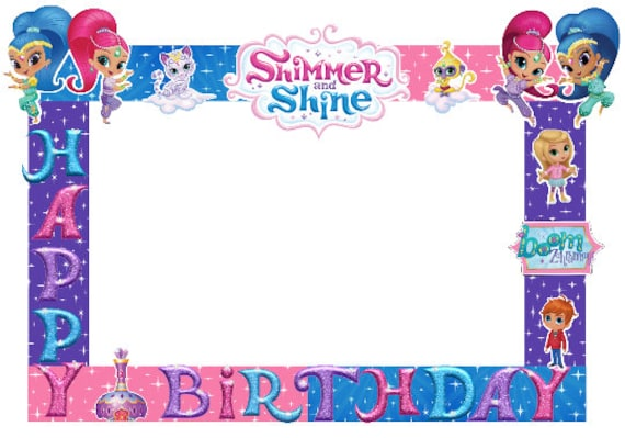 Shimmer Shine Photo Booth Frame Etsy