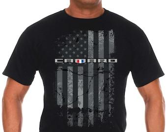 JH Design Mens Chevy Camaro T-Shirt Long Sleeve Black Crew Neck