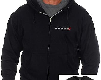 fc8e9412a0a JH Design Group Men s Dodge Emblem Zip-Up Hoodie   T-Shirt Combo Gift Set