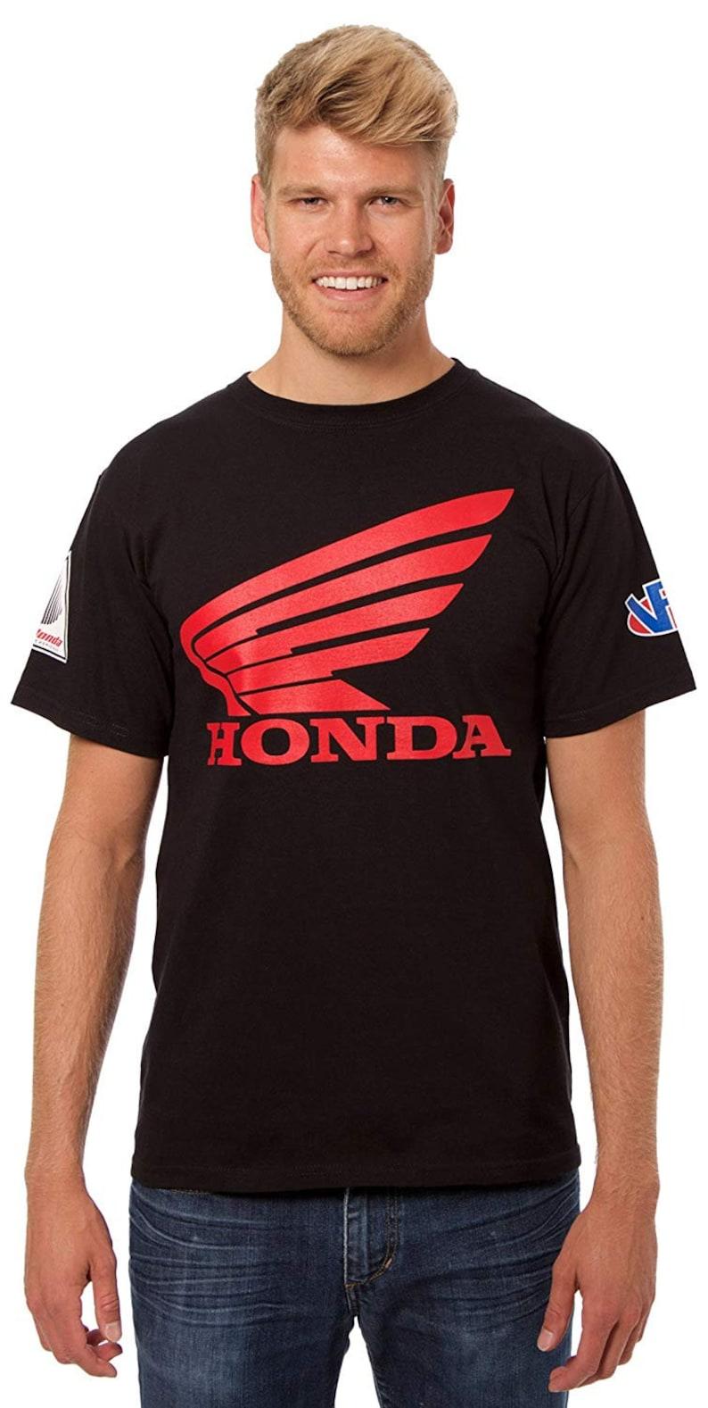 5aa9f126 JH Design Honda Logo T-Shirt with American Flag Sticker Mens | Etsy