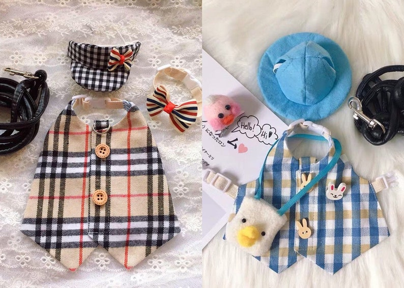 Pet harness shirt for bunny rabbit harness for small dog image 0