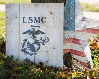 The United States Marines pallet sign