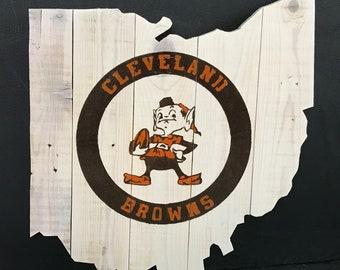 Vintage Cleveland Browns Ohio Cutout