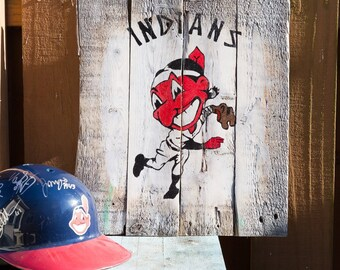 Vintage Cleveland Indians Chief Wahoo Pitching