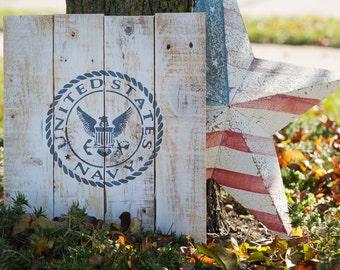 United States Navy Pallet Sign