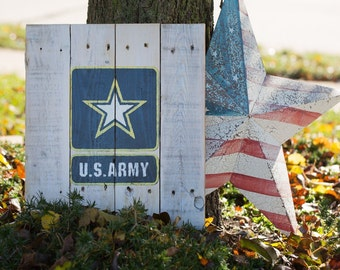 United States Army Pallet Sign