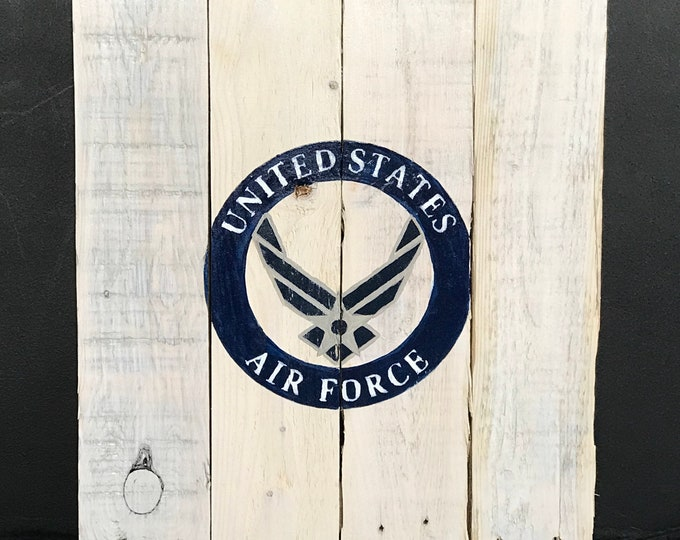 The United States Airforce Pallet Sign