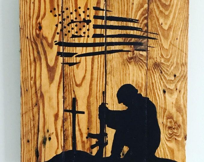 Fallen Soldier Pallet Sign
